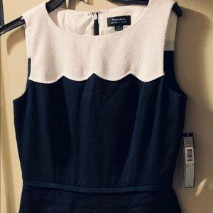 "Ellie tahari ""Whitney"" navy & white dress Sz 4 NWT"